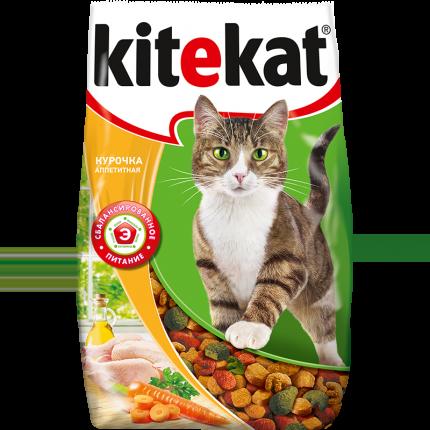 Сухой корм для кошек Kitekat, аппетитная курочка, 0,8кг