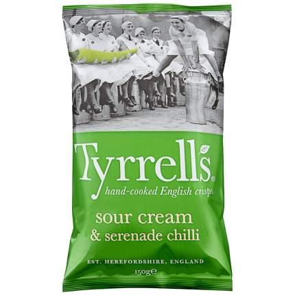 Чипсы картофельные TYRRELLS  со вкусом сметаны и острого стручкового перца 150г