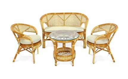 Набор садовой мебели Экодизайн Пеланги 02/15 cognac 4 предмета
