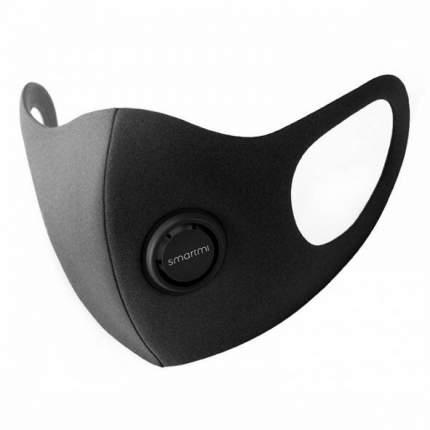 Защитная маска Xiaomi Smartmi Breathlite Anti-Smog KN95 FFP2 с клапаном размер S (Черная)