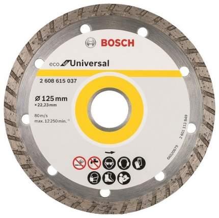 Диск отрезной алмазный BOSCH ECO Universal Turbo (2608615037) Ф125х22мм универсальный