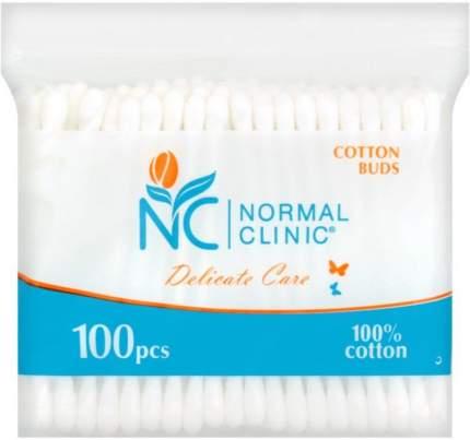 Ватные палочки в ZIP-упаковке NORMAL Clinic, 100 шт