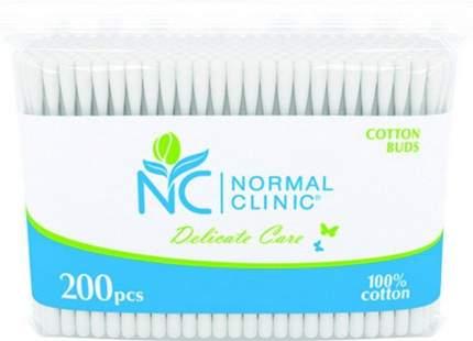 Ватные палочки в ZIP-упаковке NORMAL Clinic, 200 шт