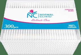 Ватные палочки в квадратной пластиковой упаковке NORMAL Clinic, 300 шт