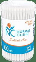 Ватные палочки в круглой пластиковой упаковке NORMAL Clinic, 100 шт