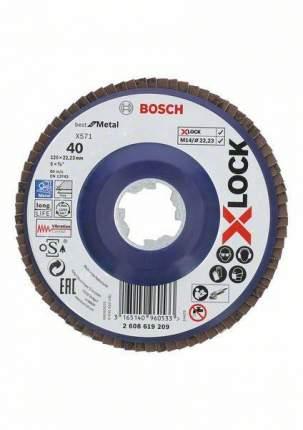 Круг Лепестковый Торцевой (КЛТ) BOSCH 2608619209 X-lock