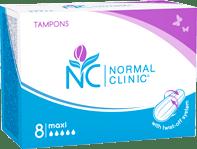 Тампоны для критических дней maxi (5 капель) NORMAL Clinic, 8 шт