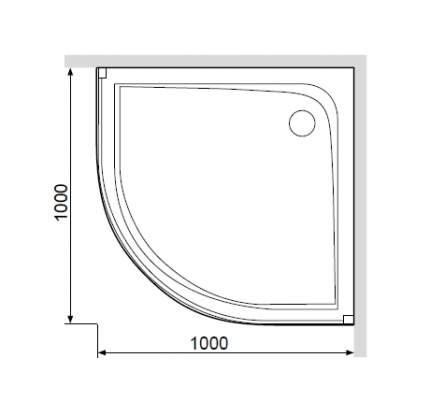Акриловый поддон с сифоном для душевого ограждения, 100x100 Like W80T-301-100MT