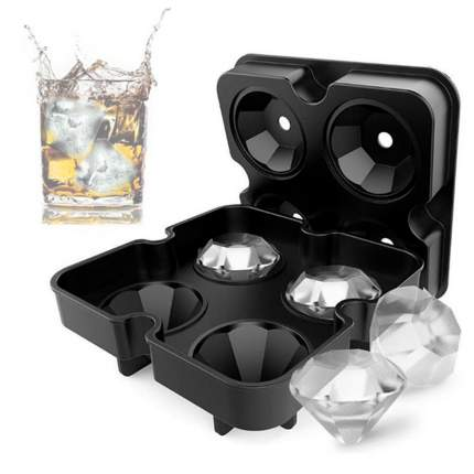 Форма для льда Бриллиант, черный, 12,3х12,3х3,5 см, Kitchen Angel KA-FORMICE-20