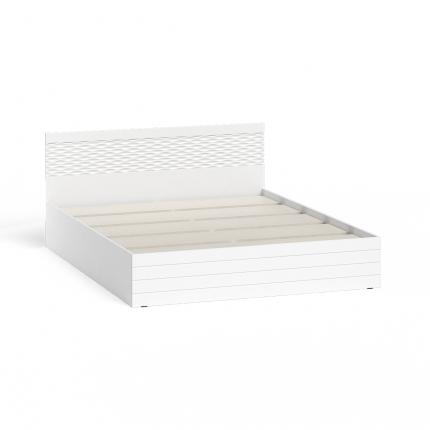 Кровать 1600 СВК Ручеек цвет белый