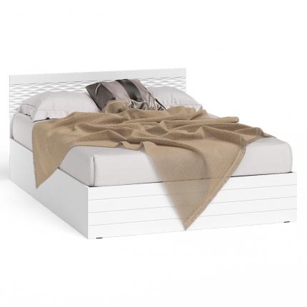 Кровать 1400 СВК Ручеек цвет белый