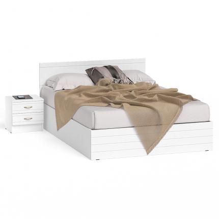 Кровать 1400 с тумбой СВК Елена цвет белый