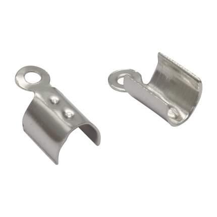 Концевик для круглого шнура, цвет: чёрный никель, 3x9 мм, 10 штук, 4AR224