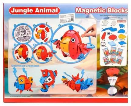 Конструктор магнитный «Животные джунглей», 93 детали Sima-Land