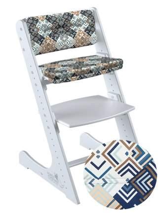 Стул Конёк Горбунек КОМФОРТ с комплектом подушек, цвет: белый/лабиринт