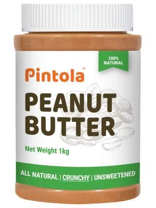 Кремовая арахисовая паста с кусочками арахиса без сахара Pintola Crunchy Natural, 1 кг