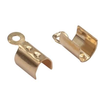 Набор концевиков для шнура, цвет: никель, 20 штук, 4AR221