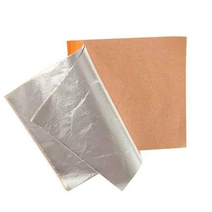 Поталь в книжке для серебрения «Сонет», 14 х 14 см, 25 листов, имитация серебра Невская па