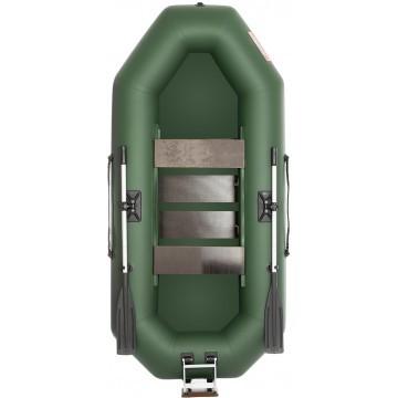 Лодка Тонар Шкипер 260НТ 2,6 x 1,23 см зеленая