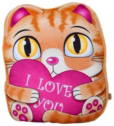 """Мягкая игрушка """"Рыжий котик"""" с сердцем Sima-Land"""