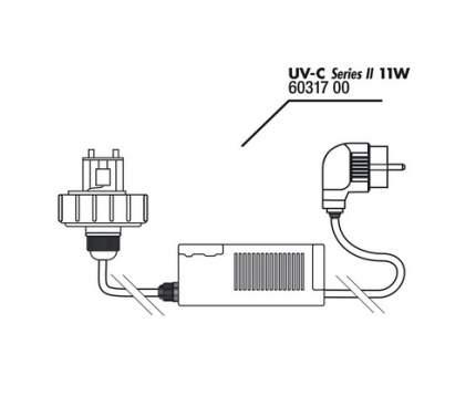 Крышка корпуса с цоколем лампы с блоком питания JBL для UV-C стерилизатора 11 ватт