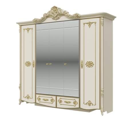 Шкаф 5-ти дверный Мэри-Мебель Дольче Вита СДВ-01 слоновая кость с золотом, 247х64х240