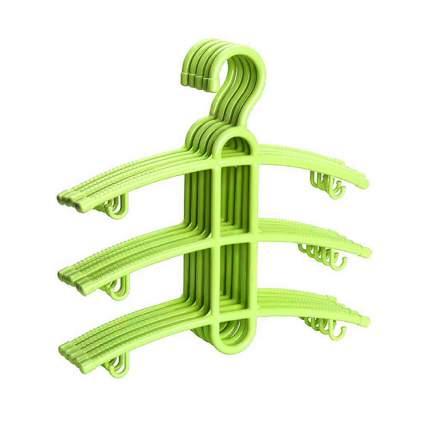 Набор вешалок Blonder Home BH-HANG-02, 5 штук, зеленые, 35х37,5х0,6 см