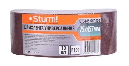 Шлифовальная лента для ленточной шлифмашины и напильника Sturm! 9010-B75x457-100