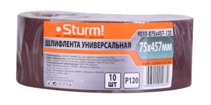 Шлифовальная лента для ленточной шлифмашины и напильника Sturm! 9010-B75x457-120