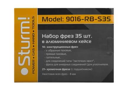 Наборы фрез для фрезера Sturm! 9016-RB-S35
