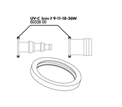 Прокладка присоединительного штуцера JBL для UV-C стерилизаторов на 9/11/18/36 ватт, 2шт