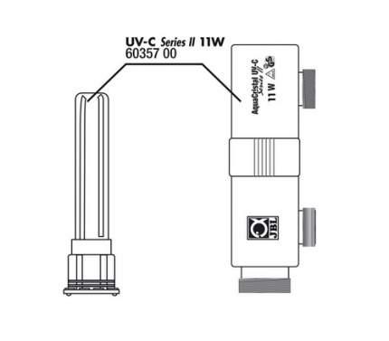 Корпус стерилизатора JBL AquaCristal UV-C 11W SERIES II с защитным кожухом