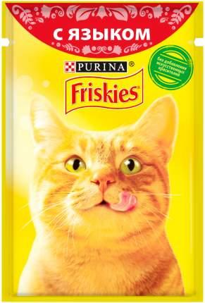 Влажный корм для кошек Friskies, с языком в подливе, 24шт по 85г