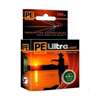 Плетеный шнур PE ULTRA LIGHT Dark Green 100 m