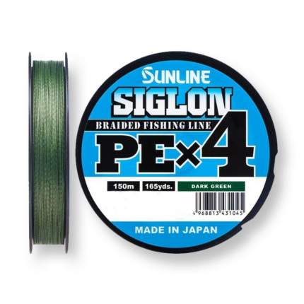 Шнур SIGLON PE×4 150 м (Dark Green)