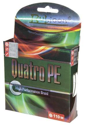 Леска плетеная Quatro PE 110 м multicolor
