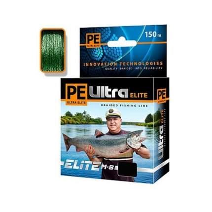 Плетеный шнур PE ULTRA ELITE M-8 Dark Green 150 м