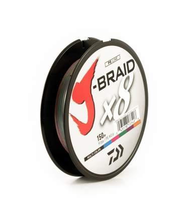 Леска плетеная J-Braid X8 мультиколор 150m