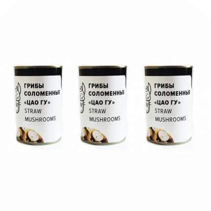 Грибы соломенные ЦАО ГУ для супа том ям Вкус Азии (3 шт. по 400 г)