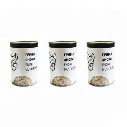 Грибы Еноки Золотые нити Вкус Азии (3 шт. по 400 г)