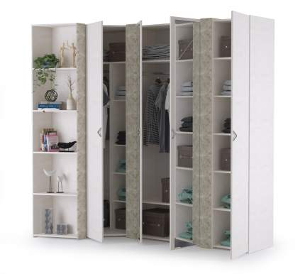 Набор шкафов Mobi Амели НШ-1 шёлковый камень/бетон чикаго беж, 232,7х121,1х230 см.