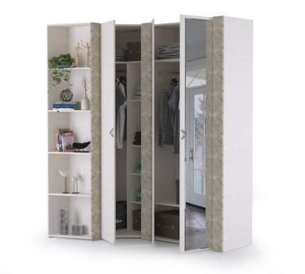 Набор шкафов Mobi Амели НШ-2 шёлковый камень/бетон чикаго беж, 121,1х189,3х230 см.