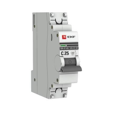 Автоматический выключатель EKF 1P 25А (C) 4,5kA ВА 47-63 PROxima