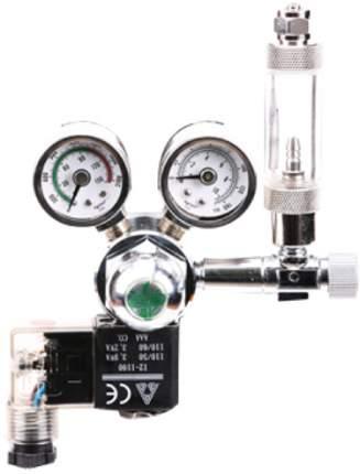 Редуктор CO2 Ista с электромагнитным клапаном, счётчиком пузырьков и обратным клапаном