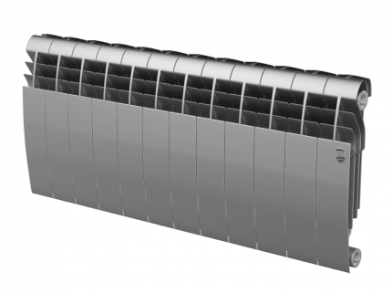 Радиатор Royal Thermo BiLiner 350 /Silver Satin - 12 секц.