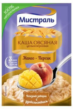 Овсяная каша Мистраль цельнозерновая  манго-персик 40 г