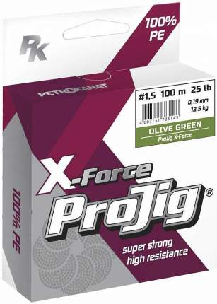 Шнур ProJig X-Force 100 м хаки
