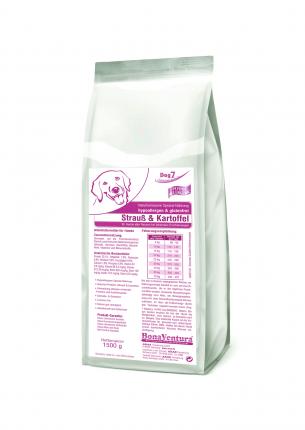 Сухой корм для собак BonaVentura Dog 7 hipo allergenic, страус, картофель, 1.5кг