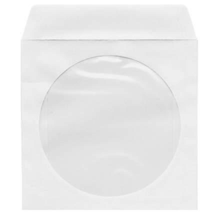 Конверт Mirex для CD бумажный с окном 100 шт (1057702)