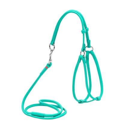 Шлейка для собак и кошек Collar WAUDOG Glamour, ментоловый, грудь 30-50см, шея 26-46см